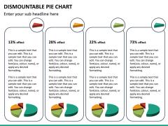 Dismountable pie chart PPT slide 20