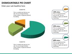 Dismountable pie chart PPT slide 15