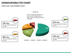 Dismountable pie chart PPT slide 17