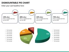Dismountable pie chart PPT slide 18