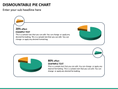 Dismountable pie chart PPT slide 19