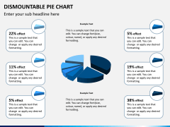 Dismountable pie chart PPT slide 1