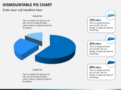 Dismountable pie chart PPT slide 5