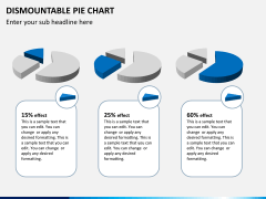 Dismountable pie chart PPT slide 6