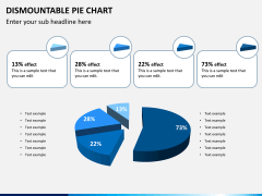 Dismountable pie chart PPT slide 8