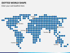 Dotted world map PPT slide