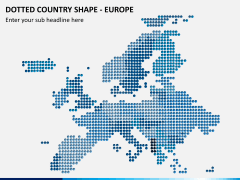 Dotted europe map PPT slide