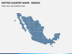 Dotted mexico map PPT slide