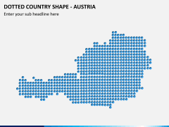Dotted austria map PPT slide