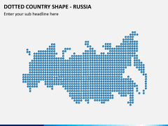 Dotted russia map PPT slide