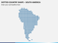 Dotted south america map PPT slide