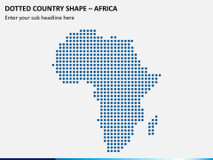 Dotted africa map PPT slide