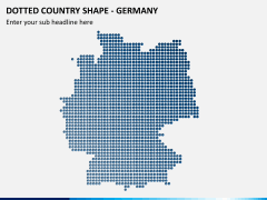 Dotted germany map PPT slide