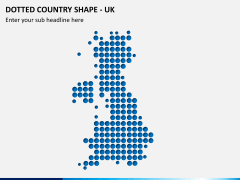 Dotted UK map PPT slide