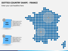 Dotted france map PPT slide
