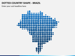 Dotted brazil map PPT slide
