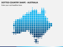 Dotted australia map PPT slide