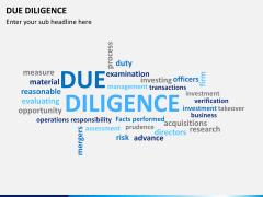 Due diligence PPT slide 14