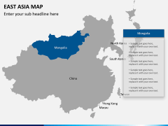 East asia map PPT slide 10