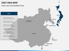 East asia map PPT slide 11