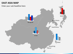East asia map PPT slide 12