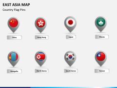 East asia map PPT slide 13