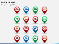East asia map PPT slide 16