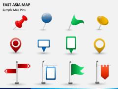 East asia map PPT slide 17