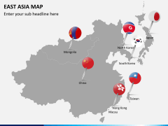 East asia map PPT slide 3