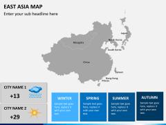 East asia map PPT slide 5