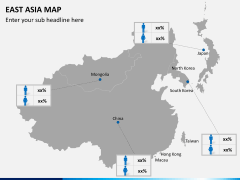 East asia map PPT slide 6
