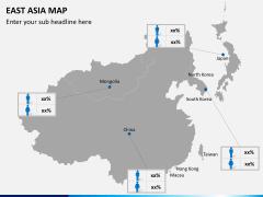 East asia map PPT slide 6