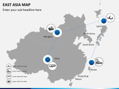 East asia map PPT slide 9