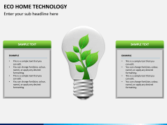 Eco home technology PPT slide 3