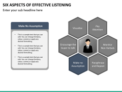 6 Aspects of effective listening PPT slide 23