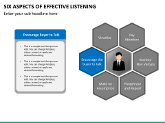 6 Aspects of effective listening PPT slide 24