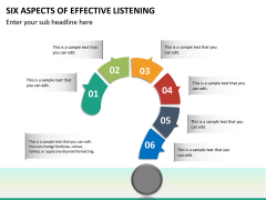 6 Aspects of effective listening PPT slide 16