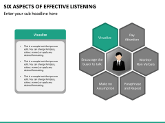 6 Aspects of effective listening PPT slide 19