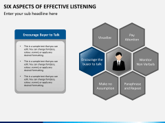6 Aspects of effective listening PPT slide 11