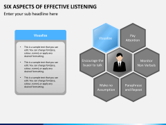 6 Aspects of effective listening PPT slide 12