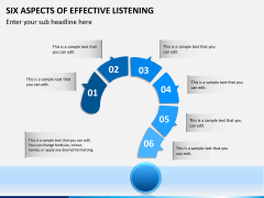 6 Aspects of effective listening PPT slide 4