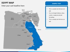 Egypt map PPT slide 11