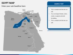 Egypt map PPT slide 12