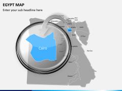 Egypt map PPT slide 13