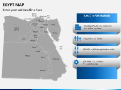 Egypt map PPT slide 16