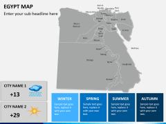 Egypt map PPT slide 20