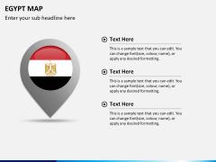 Egypt map PPT slide 21