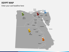 Egypt map PPT slide 3