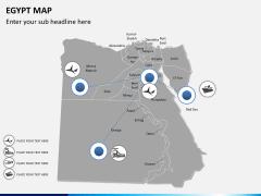 Egypt map PPT slide 5