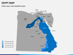 Egypt map PPT slide 8